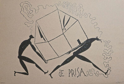 José Bedia, 'De Prisa', 1995