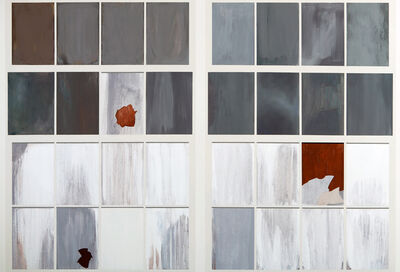 Sarah McKenzie, 'Gates Factory Window #3 (Grid with Rust)', 2012