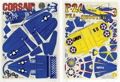 Malcolm Morley, '2 sheets: Corsair / PP-26 Pea Shooter'