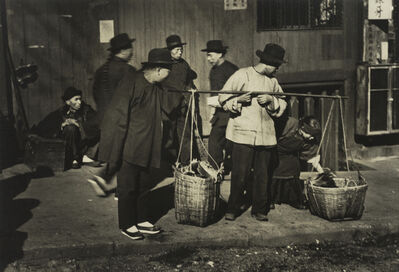 Arnold Genthe, 'Vegetable Peddler, Old Chinatown, San Francisco', ca. 1895-1906