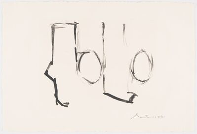 Robert Motherwell, 'Spanish Elegy II', 1975