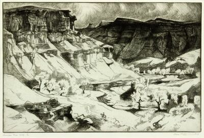 Gene Kloss, 'Gunnison River Cliffs', 1967