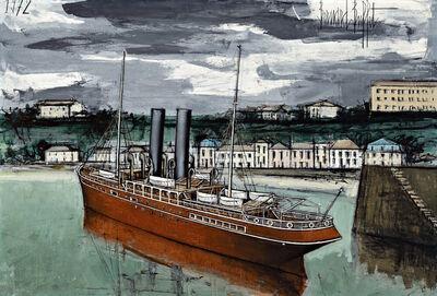 Bernard Buffet, 'Granville, bateau sortant du port', 1972