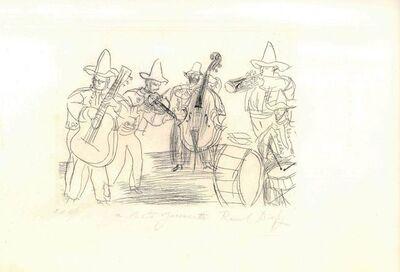 Raoul Dufy, 'Les Musiciens Mexicains', 1952