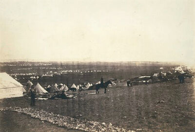 Roger Fenton, 'Crimean War: Plateau Before Sebastopol, Turkish Tents in the Distance', ca. 1855