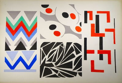 "Sonia Delaunay, 'Plate n.4 from ""Ses peintures, ses objets, ses tissus simultanés, ses modes""', 1925"