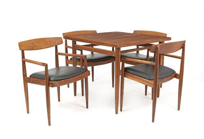 Sam Maloof, 'Game table and low-back chairs, 5 pieces'
