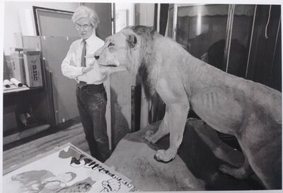 Robert Levin, 'Andy Warhol with Lion & Superman '81', 2015