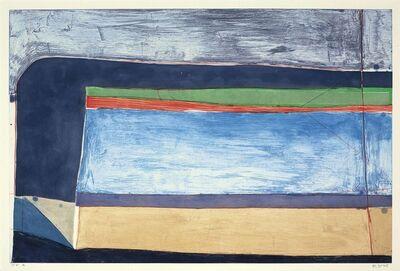 Richard Diebenkorn, 'Indigo Horizontal', 1985