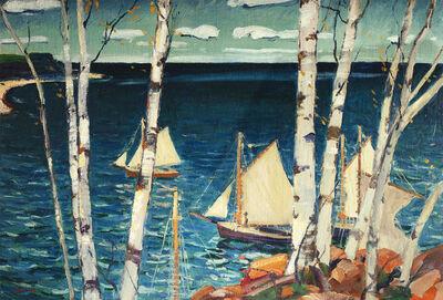 Jonas Lie, 'Sea and Birches', Date Unknown
