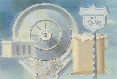 Walter Murch, 'Route 9W, Hubcap, Sack', 1956