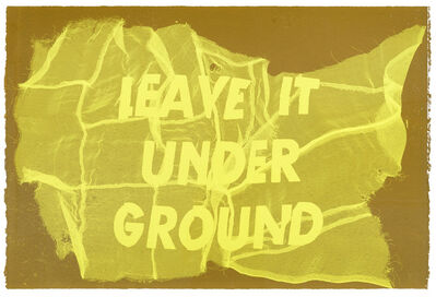 Raul Walch, 'Leave It Under Ground', 2020