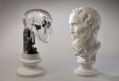 Guzzetti Ale, 'Affective Robots vs Michelangelo (Daniele da Volterra)', 2012