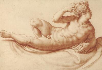 Francesco Salviati, 'Reclining Male Nude', 1550