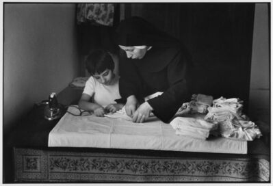 Leonard Freed, 'Nun instructing at school for girls, Madonie Mountains, Sicily, Italy', 1974