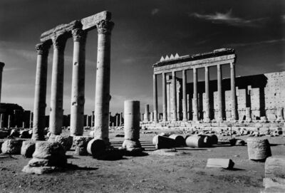 Don McCullin, 'Crow foot merlons crowning the summit of the colonnade around the central Temple of Bel, Palmyra', 2006-2009