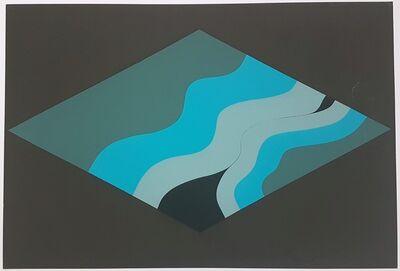 Hannes Grosse, 'Gestural Abstraction (blue tones)', 1968