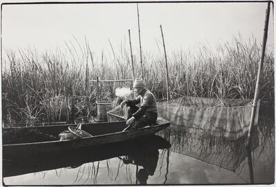 Kazuo Kitai, 'Fisherman on the River, Inbanuma, Chiba (To the Villages series)', 1975