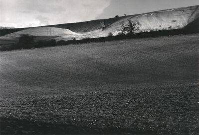 Fay Godwin, 'White Horse and Dragon Hill, Uffington', 1974; printed 1980
