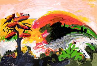 Yehouda Chaki, 'Tree with Red Leaves'