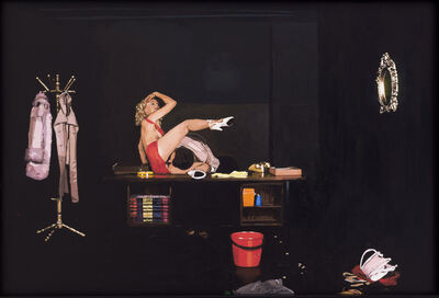 Aura Rosenberg, 'The Golden Age: Untitled (Red Dress with Props)', 2013