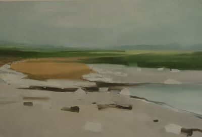 Sara MacCulloch, 'Rocks, Grass, Beach', 2018