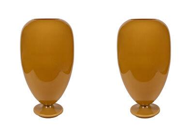 Italian, Murano Glass, Venice, 'Monumental Pair of Murano Glass Lighted Urn Shape Lamps', ca. 1970