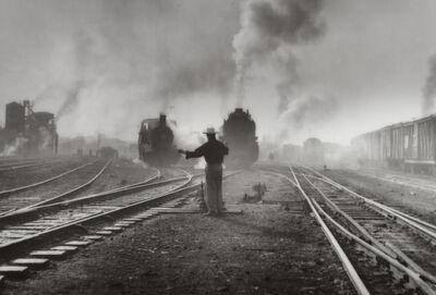 Manuel Carrillo, 'Untitled (Man at train tracks)', nd