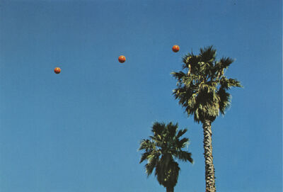 John Baldessari, 'Throwing Three Throwing Three Balls in the Air to Get a Straight Line (Best of Thirty-Six Attempts)', 1973