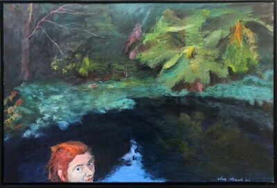 Clare Menck, 'Tropical reflection with redhead', 2020