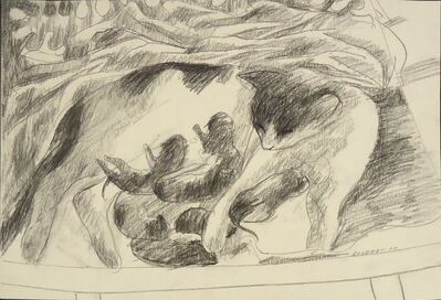 Sidney Goodman, 'Shayna and Her Babies', 1960