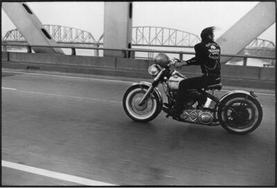 Danny Lyon, 'Crossing the Ohio, Louisville, The Bikeriders Portfolio', 1966
