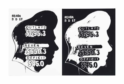 Andy Warhol, 'Reagan Budget (Positive and Negative)'