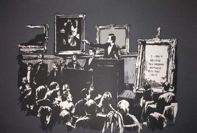 Banksy, 'Morons (Grey)', 2006
