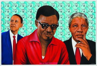 Chéri Samba, 'Oui, il faut réfléchir (Yes, One Must Think)', 2014