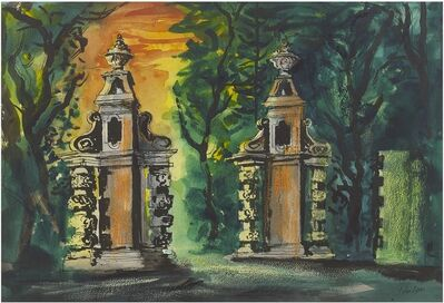John Piper, 'Chambers Entrance Gates, Blenheim Palace', 1981