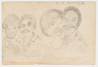William Hawkins, 'Untitled (Two Couples)'
