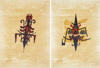 Wifredo Lam, 'El Último Viaje del Buque Fantasma #VII & #IX (2 works)', 1976