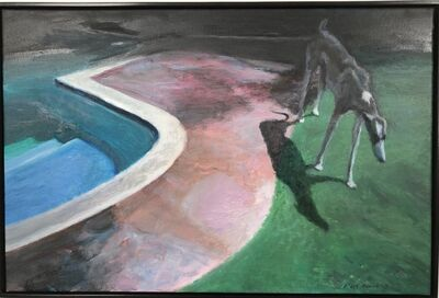 Clare Menck, 'Hound with shadow', 2017