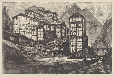 Joseph Pennell, 'Old Million Eyes', 1910