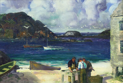George Wesley Bellows, 'Harbor at Monhegan', 1913