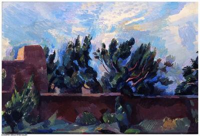 Willard Nash, 'Alice Meyer's Adobe Wall, Santa Fe', 1925