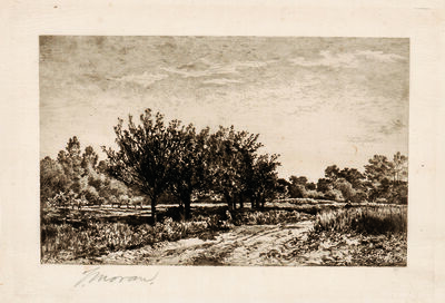 Thomas Moran, 'Landscape, alternatively titled Landscape after Daubigny and The End of the Month of May', 1886