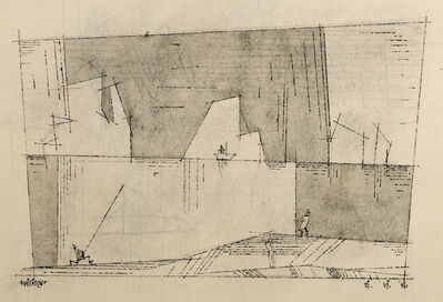 Lyonel Feininger, '(Three People on the Shore and  Ship in the Distance)', 1946