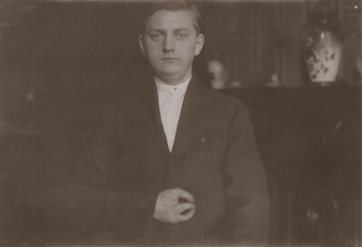 Lewis Wickes Hine, 'Portrait of Frank Wiegel, Brooklyn, New York', 1916