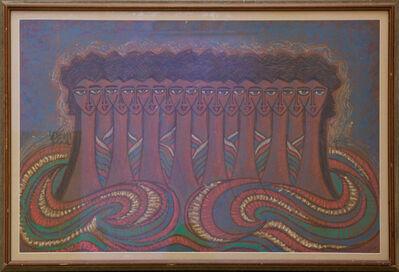 Sadequain, 'Untitled (Fifteen Heads)', 1986