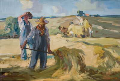 Frank Wilcox, 'The Hay Field', ca. 1916