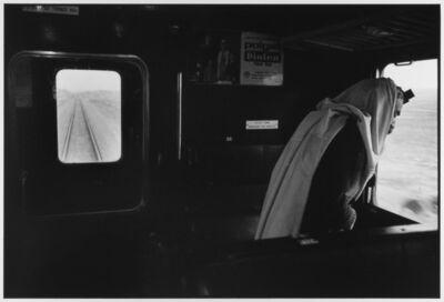 Leonard Freed, 'Man prays on train 1973 Israel ', 1973