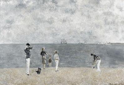 Richard Eurich, 'Scottie and friends on the beach', 1990