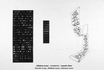 Leandro Katz, 'Lunar Alphabet II, Lunar Sentence II, Lunar Column', 1981